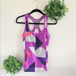Nike purple geometric dri-fit athletic top